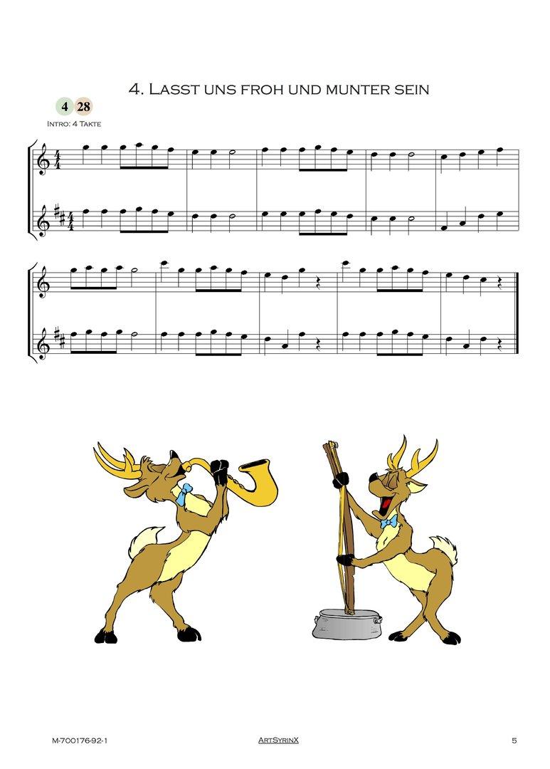 24 Weihnachtslieder für Flöte und Klarinette Verlag Artsyrinx