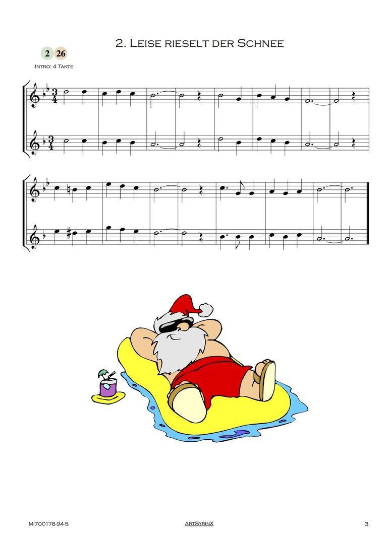 24 Weihnachtslieder für Trompete und Altsaxophon ARTSYRINX VERLAG