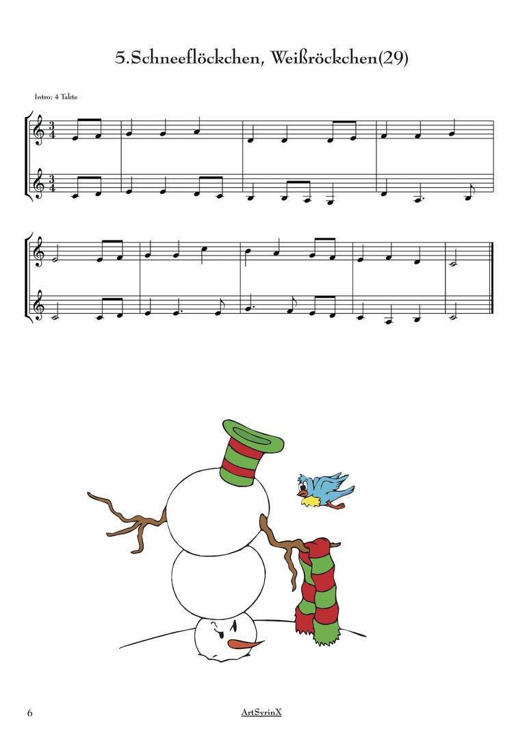 24 Weihnachtslieder für 2 Klarinetten - ARTSYRINX MUSIKVERLAG