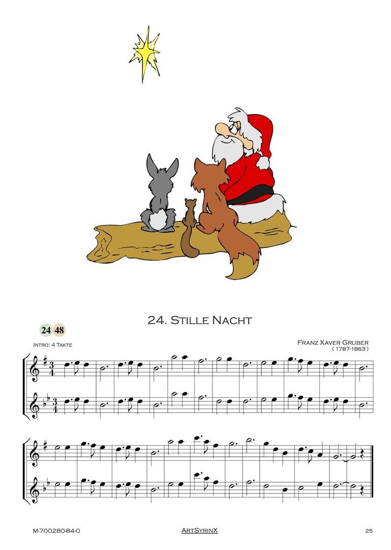 24 Weihnachtslieder für Altsaxophon & Flöte ARTSYRINX MUSIKVERLAG