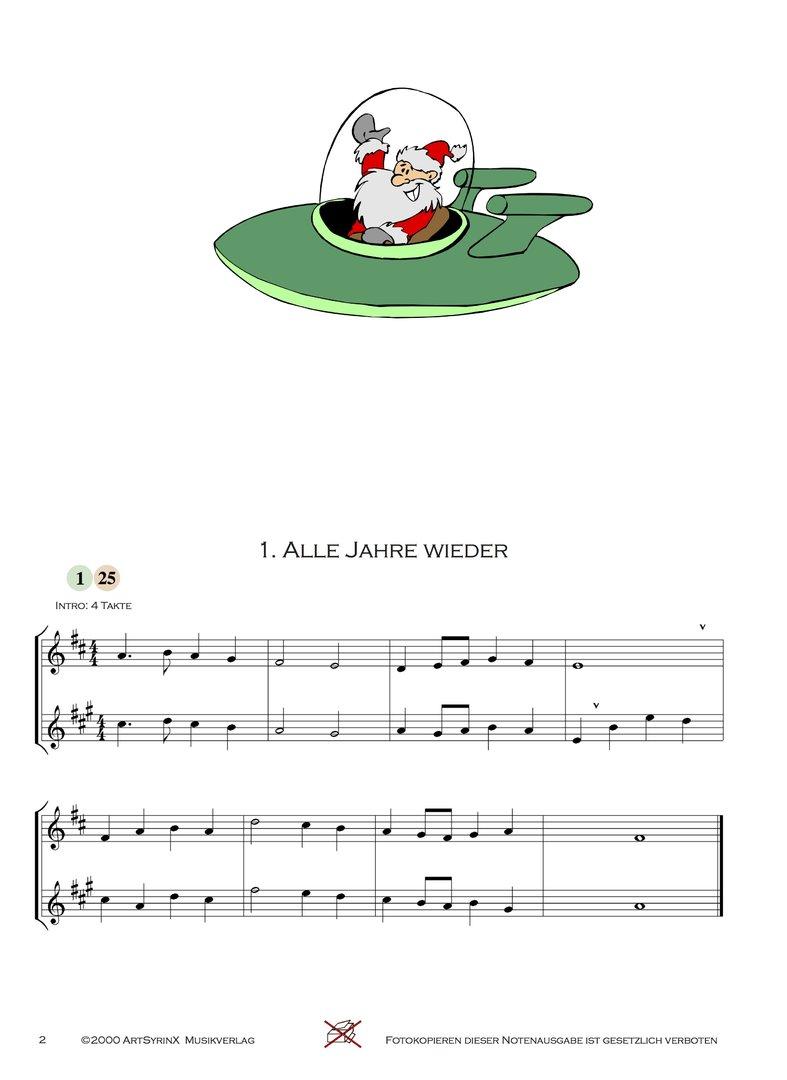 Weihnachtslieder Ausdrucken.24 Weihnachtslieder Für Trompete Und Altsaxophon Artsyrinx Verlag
